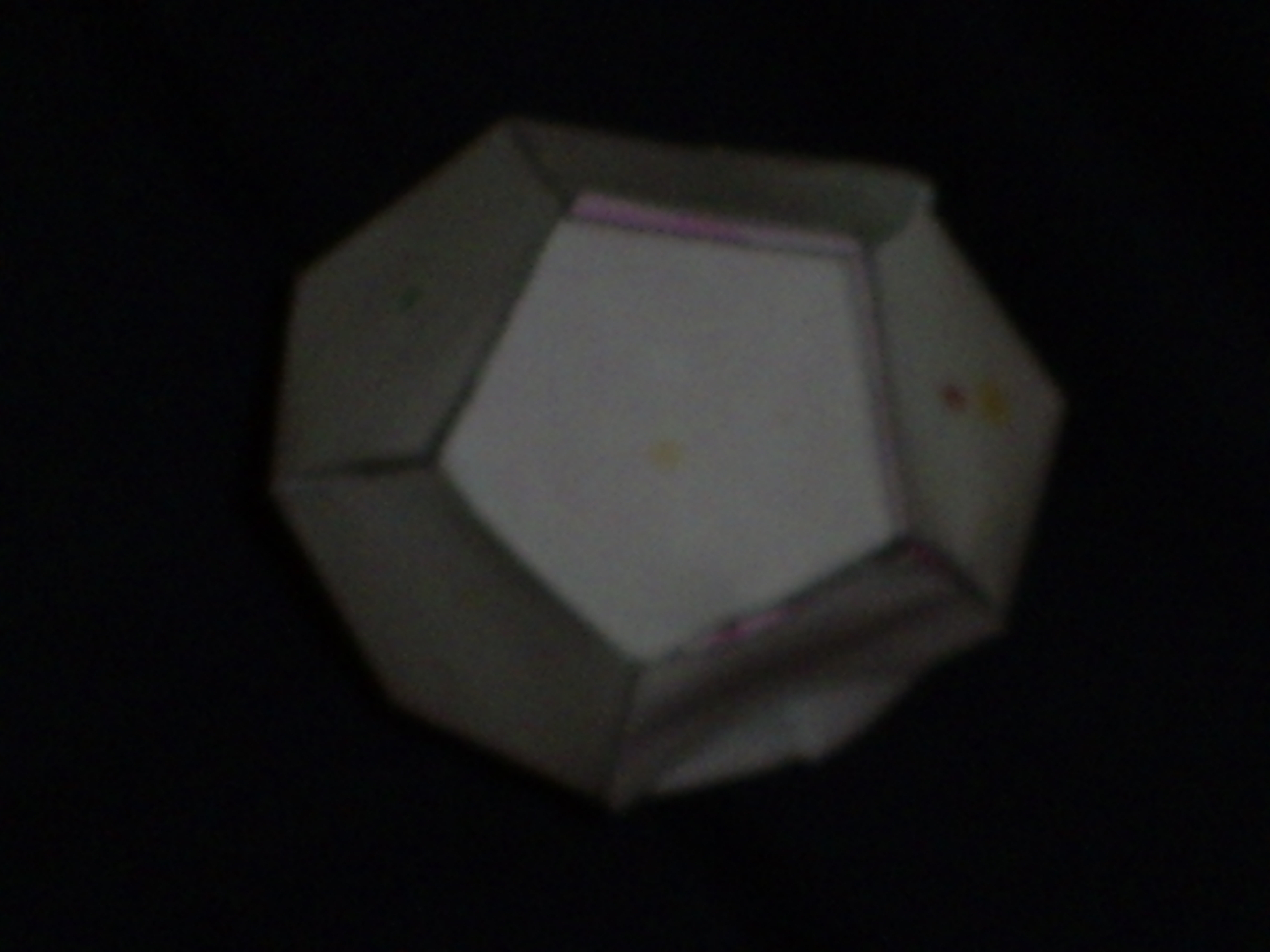 The Colored Dots In The Picture Are There To Help You Fold It Into A  Dodecahedron The Shaded Areas Are Areas That Overlap Cut Out The Object